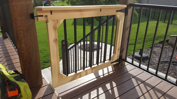 Baby And Pet Gate For Deck, Patio, Garden, And Stairways, Garden Furniture,  Patio Furniture, Outdoor Furniture (Natural/Unfinished)