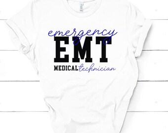 a5def72a EMT shirt/gifts for her/EMS shirt/ff emt shirt/emergency services  technician/first responders/paramedic