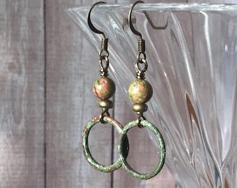 Petite Harness Ring Earrings