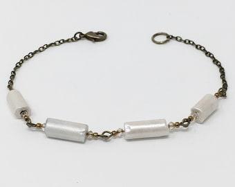 Antique Clay Pipe Stem Bracelet