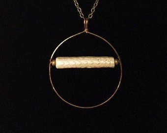 Patterned Antique Clay Pipe Stem Pendant