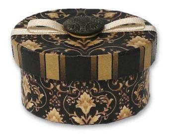 Treasure Box with Antique Georgian Button