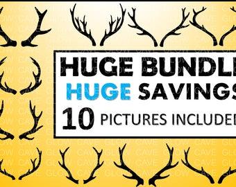 Deer Antler SVG/ Deer Horns DXF/ Antler Clipart/ SVG Files for Silhouette Cameo or Cricut/ nature svg, antler image, antler clipart