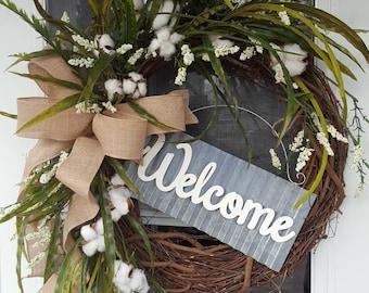Farmhouse Wreath Etsy