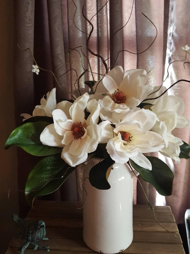 Magnolia Farmhouse Arrangementcountry Arrangement Floral Etsy