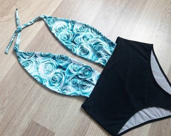f82ab9b84d809 High waisted floral swimsuit