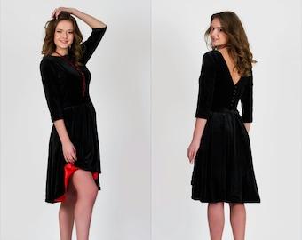 e226c64be5d Black asymmetrical dress