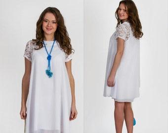 e4ced5e2145 Plus size maternity dress for photo shoot white chiffon dress