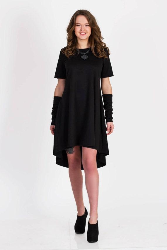 Plus size dress, Black asymmetric dress, Plus size clothing, Oversized  dress, Casual dress, Maternity dress