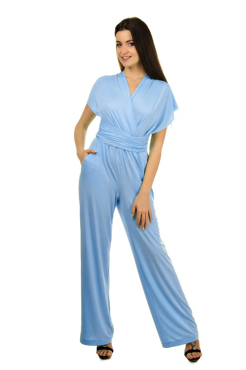 ad2351970c06 Wedding infinity jumpsuit convertible romper blue jersey