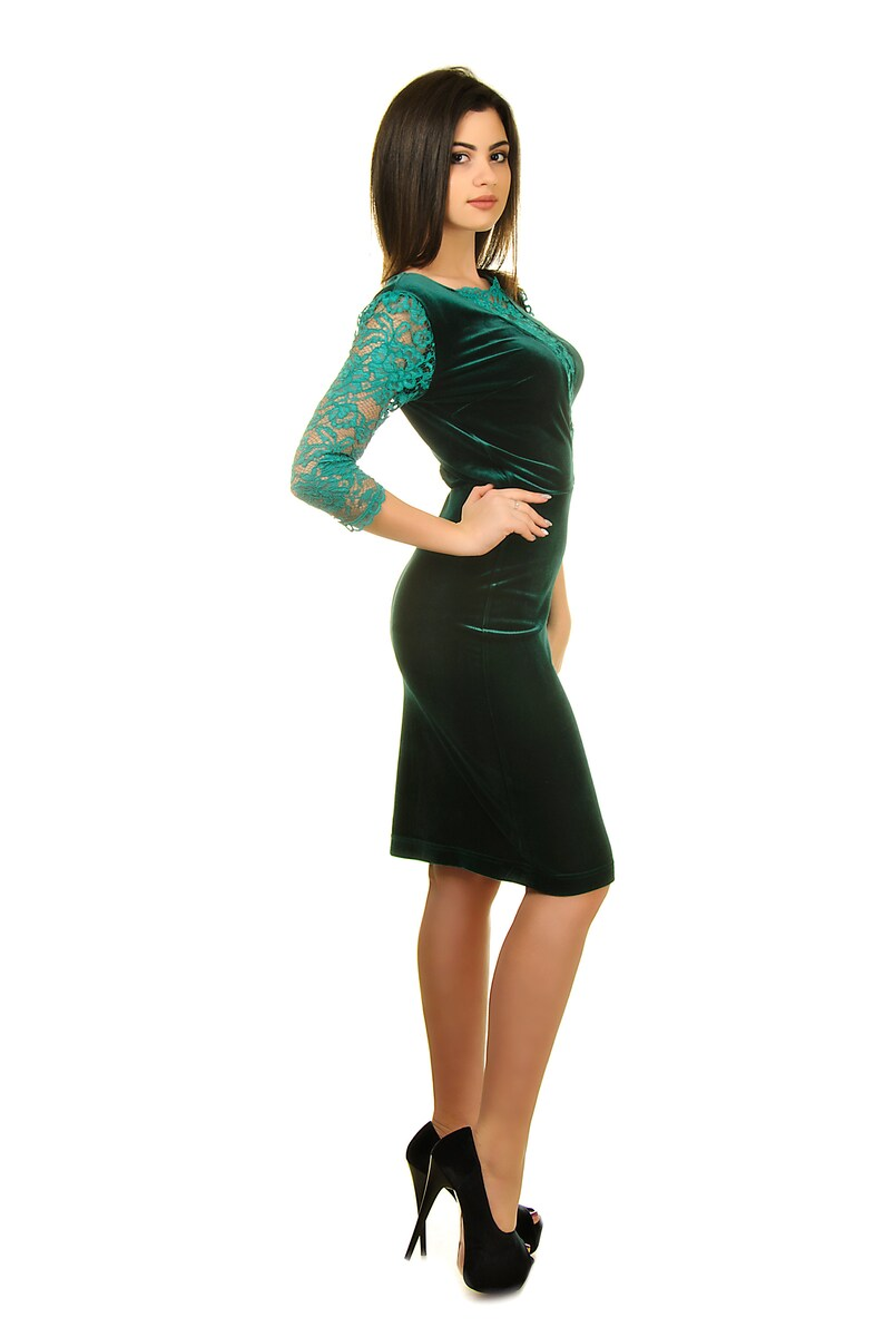 emerald velvet dress mother of the bride dresses special occasion dresses velvet party dress Wedding guest dress for women