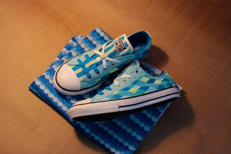 190908efd9190 Zapatos de sirena Converse pintados a mano
