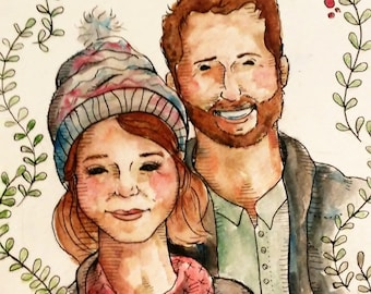 8x10 Detail Family Portrait - Custom made, Hand painted