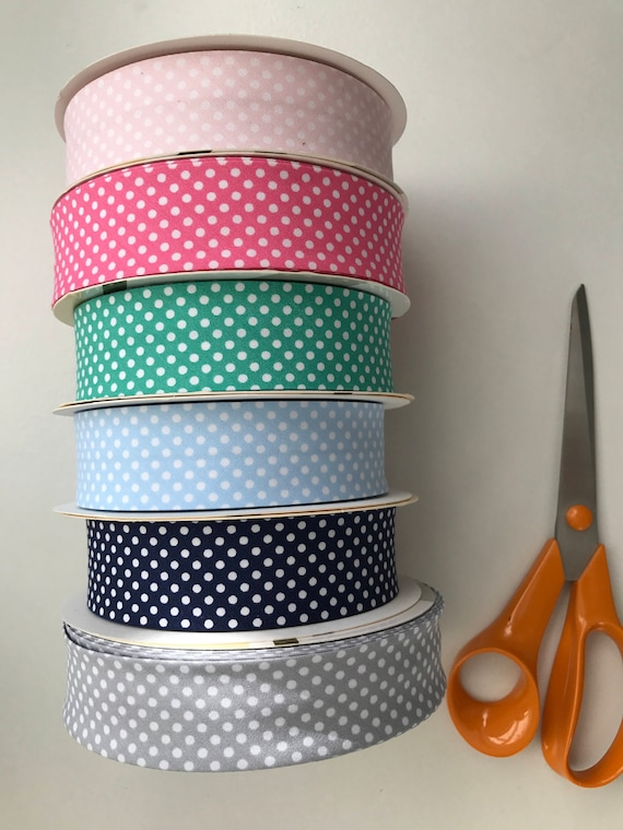 Metallic 100/% Cotton Bias Binding Silver 30mm Wide Per Metre