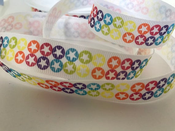 10mm Printed grossgrain ribbon /'Keep calm and craft on/' 2m length colour choice