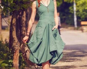 7700ac66e0b Asymmetrical Boho Dress