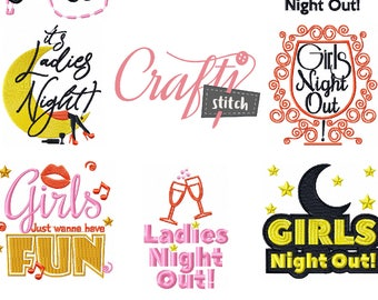Machine Embroidery Designs - Girls Night Collection 8