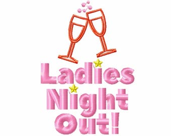 Machine Embroidery Design - Girls Night Collection #03