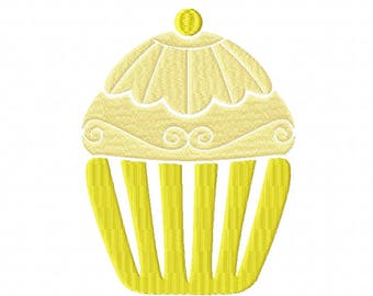 Machine Embroidery Design - Cupcake Collection #04