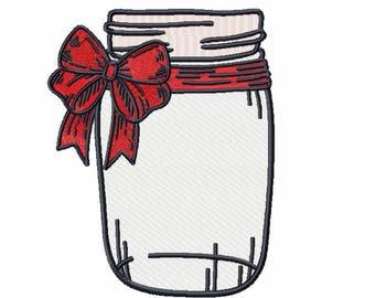 Machine Embroidery Design  - Canning Jars Design #01
