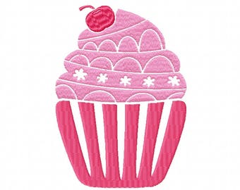 Machine Embroidery Design - Cupcake Collection #01