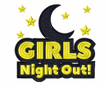 Machine Embroidery Design - Girls Night Collection #02