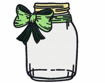 Machine Embroidery Design  - Canning Jars Design #04
