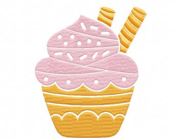Machine Embroidery Design - Cupcake Collection #05