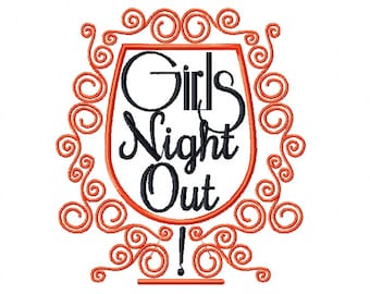 Machine Embroidery Design - Girls Night Collection #04