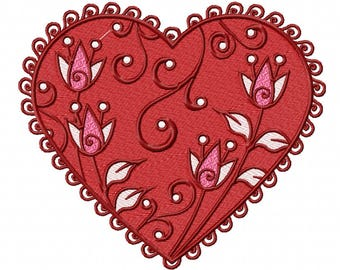 Valentines Hearts Collection #03 Machine Embroidery Design