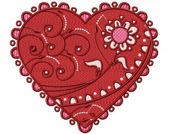 Valentines Hearts Collection #01 Machine Embroidery Design