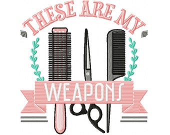 Machine Embroidery Design - Hair Stylist #08