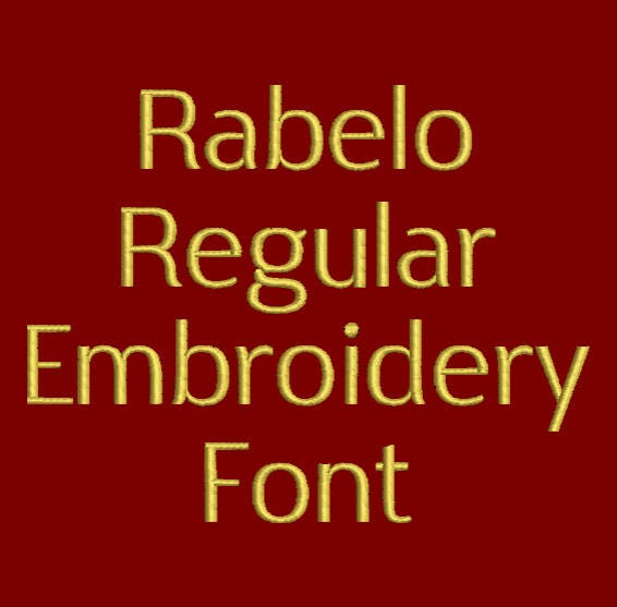 machine embroidery font clean and simple rabelo regular now
