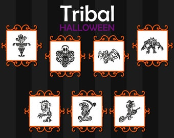 Machine Embroidery Designs - Tribal Tattoo Halloween Collection 7