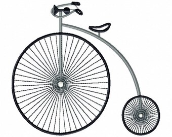 Machine Embroidery Design - Vintage Penny-farthing