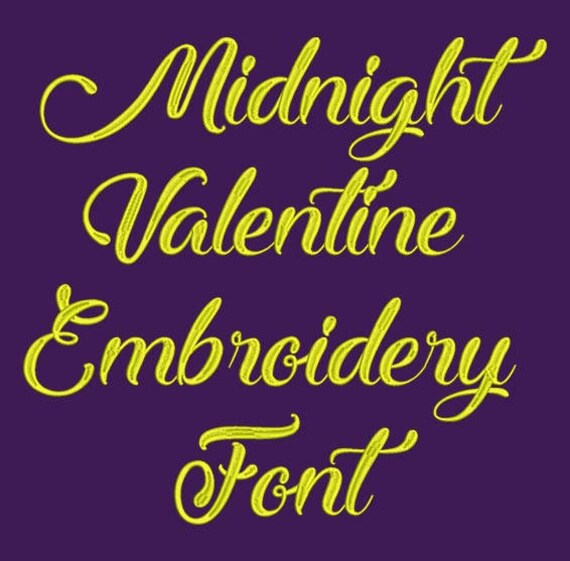 Machine Embroidery Font Midnight Valentine Now Includes Bx Etsy