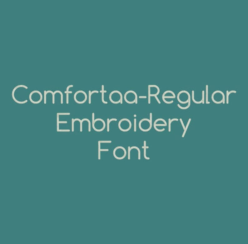 Machine Embroidery Font - Comfortaa-Regular Now Includes BX Format!