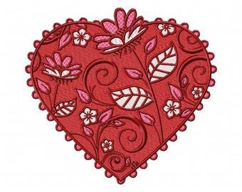 Valentines Hearts Collection #05 Machine Embroidery Design