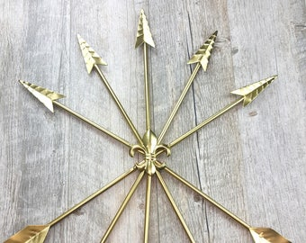 Gold Five Arrow Wall Decor