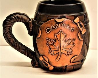 Beer gift.Christmas gifts for friends.Beer mug. Montreal, Humor,Football fan.Ceramic mug,Mug, Beer. Tankard.Daddy gift.Ceramic mug handmade.
