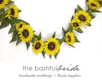 Sunflower Garland Wedding Backdrop Decor Summer Wreath