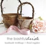 Two sizes, bohemian wedding, rustic flower girl basket, bohemian wedding decor, flower girl basket birch, farmhouse chic, barn wedding,