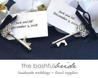 Personalized/customized bottle opener key wedding favors