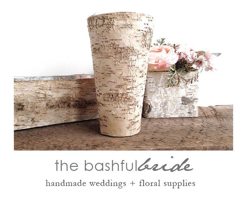 White birch bark vase birch vase wedding centerpiece bark image 0