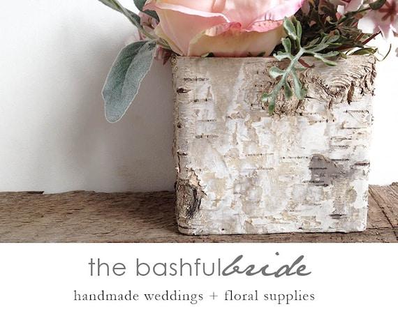 Birch Bark Vase Birch Container Wedding Centerpiece Box Etsy