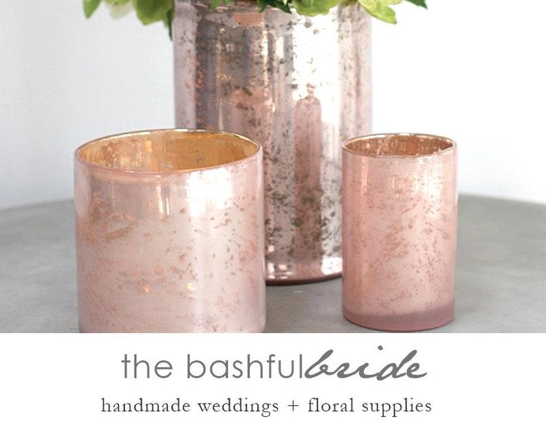 Pink vase blush pink vase Glass vase flower vase pink image 0