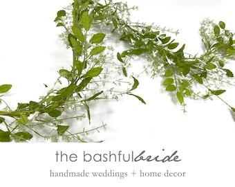 5' Jasmine garland, white jasmine, flower garland, wedding garland, white garland, delicate garland, greenery wedding, jasmine table runner