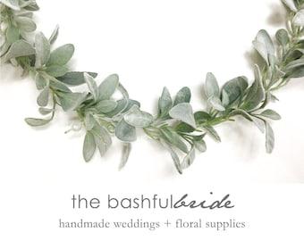6' Lamb's Ear garland, sage, silver sage, dusty miller, wedding garland, garland backdrop, garland mantle, table runner