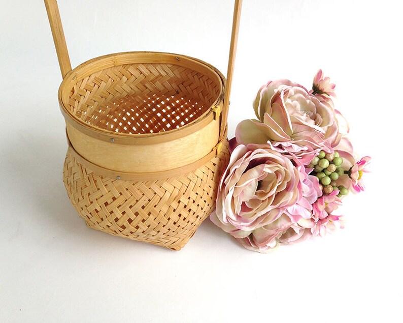 Asian style flower girl basket Hawaii flower girl Flower girl basket beach wedding beach wedding decor Hawaii wedding tropical wedding