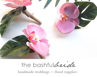 Beach wedding, choose color, orchid boutonniere, tropical wedding, beach boutonniere, tropical boutonniere, tropical corsage, orchid